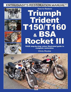 Triumph Trident and BSA Rocket III Restoration Manual Cover
