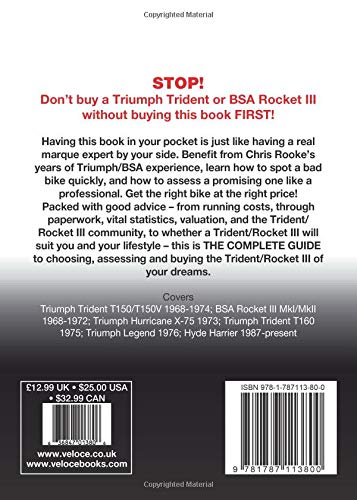 Triumph Trident-and-BSA Rocket III Buyer's Guide back cover