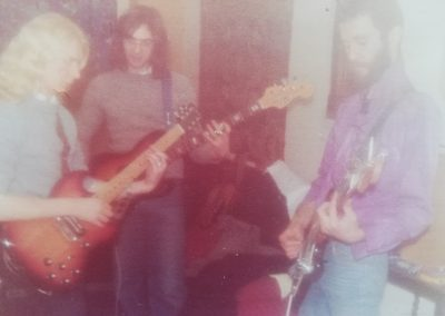 Rehearsing in the big lounge '78